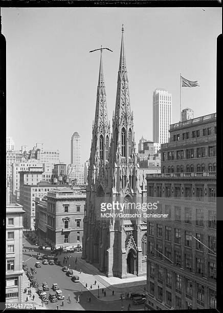 New York City views St Patrick's Cathedral from Goelet Building St Patrick's Cathedral