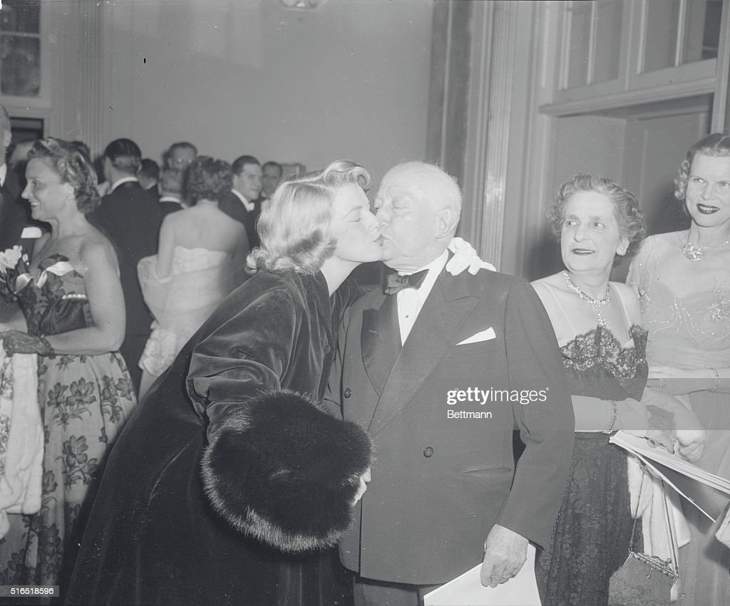 Adolph Zukor Being Congratulated at Party : News Photo