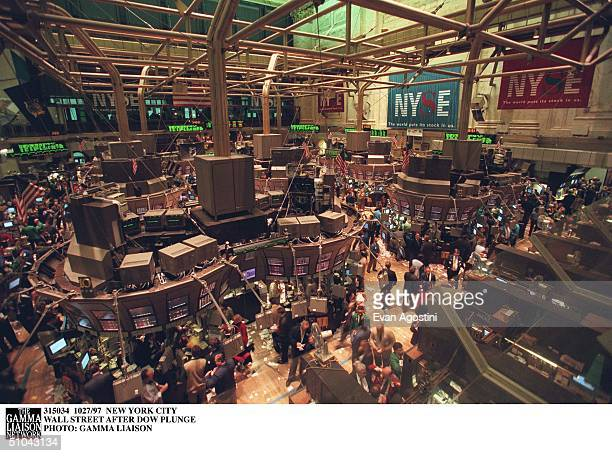 New York City Wall Street After Dow Plunge