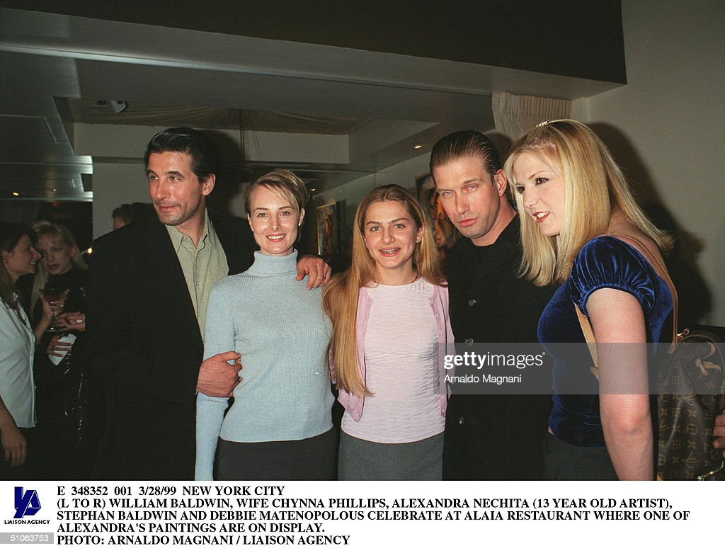 William Baldwin, Wife Chynna Phillips, Alexandra Nechita : News Photo