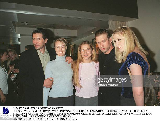 New York City William Baldwin Wife Chynna Phillips Alexandra Nechita Stephan Baldwin And Debbie Matenopolous Celebrate At Alaia Restaurant Where One...
