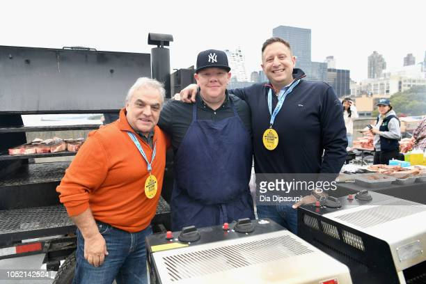 New York City Wine Food Festival Founder Executive Director Lee Brian Schrager Billy Durney of Hometown BarBQue and Chief Executive Officer of Pat...