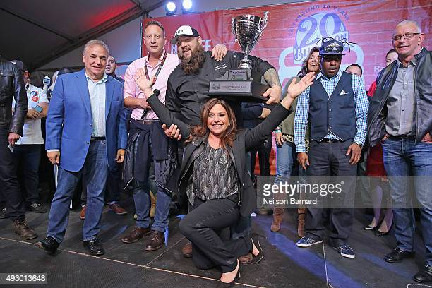 New York City Wine & Food Festival Founder & Executive Director Lee Brian Schrager, NYCWFF Burger Bash Champion Chef Ralph Perrazzo of BBD's,...
