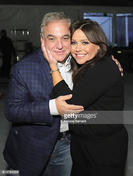 New York City Wine Food Festival Founder Executive Director Lee Brian Schrager and celebrity chef Rachel Ray attend the Blue Moon Burger Bash...