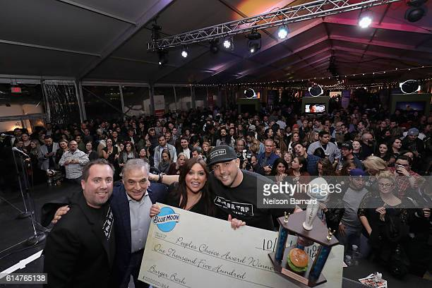 New York City Wine Food Festival Founder Executive Director Lee Brian Schrager and celebrity chef Rachel Ray present Black Tap Craft Burgers Beer...