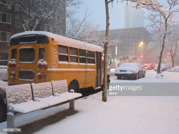 New York City winter snow blizzard