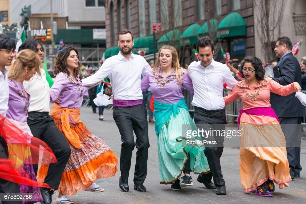 New York City's annual Persian Parade was held on Madison Avenue in Midtown Manhattan featuring costumed dancers musicians and marching units...
