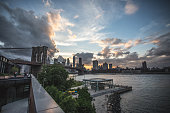 new york citys brooklyn bridge at