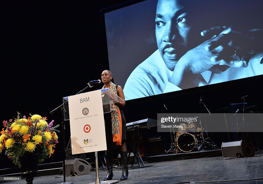 New York City's First Lady Chirlane McCray attends BAM's 30th Annual Tribute To Dr. Martin Luther King, Jr. at BAM Howard Gilman Opera House on January 18, 2016 in New York City.