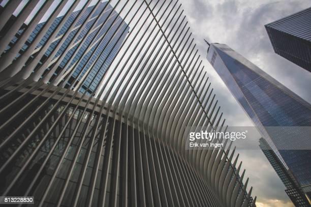 New York City's World Trade Center at sunset