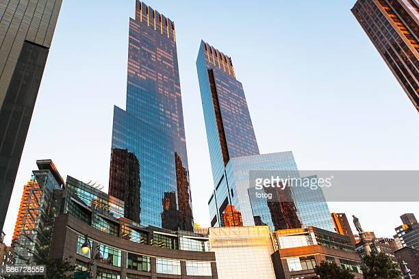 USA, New York City,Time Warner Center and skyline