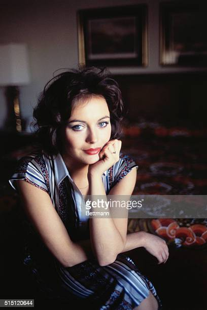Closeup of actress Lesley Anne Down
