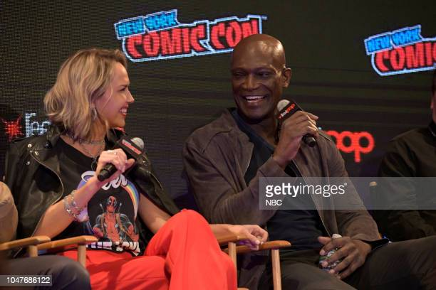 MIDNIGHT TEXAS New York Comic Con 2018 Pictured Arielle Kebbel Peter Mensah