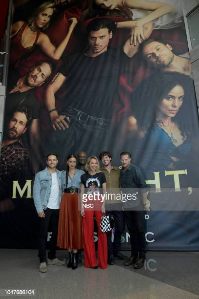 MIDNIGHT TEXAS New York Comic Con 2018 Pictured Dylan Bruce Parisa FitzHenley Peter Mensah Arielle Kebbel François Arnaud Jason Lewis