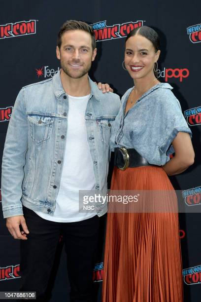 MIDNIGHT TEXAS New York Comic Con 2018 Pictured Dylan Bruce Parisa FitzHenley