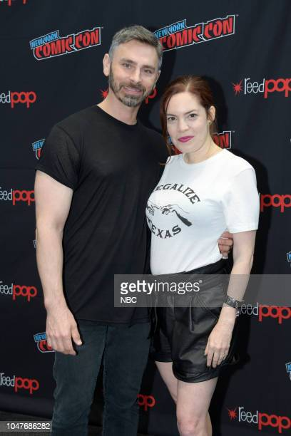 MIDNIGHT TEXAS New York Comic Con 2018 Pictured Executive Producers Eric C Charmelo and Nicole Snyder