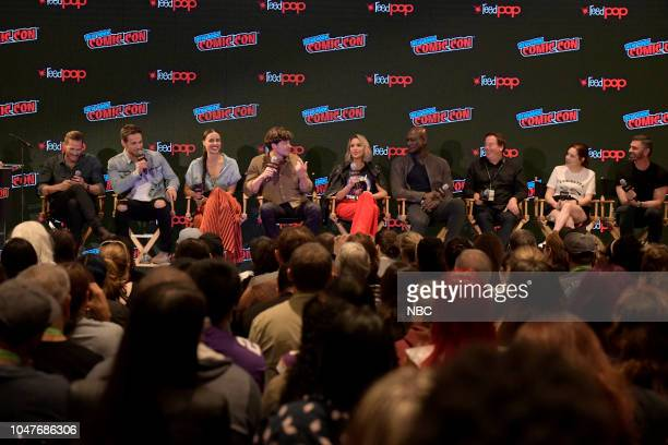 MIDNIGHT TEXAS New York Comic Con 2018 Pictured Jason Lewis Dylan Bruce Parisa FitzHenley François Arnaud Arielle Kebbel Peter Mensah Executive...