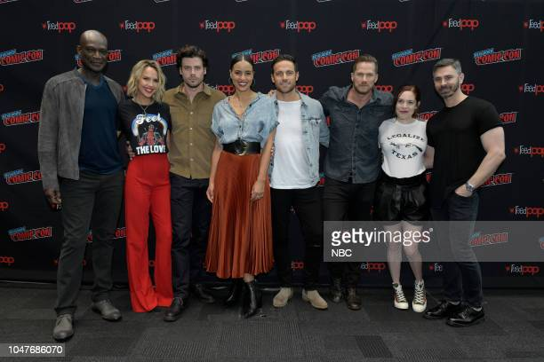 MIDNIGHT TEXAS New York Comic Con 2018 Pictured Peter Mensah Arielle Kebbel François Arnaud Parisa FitzHenley Dylan Bruce Jason Lewis Executives...