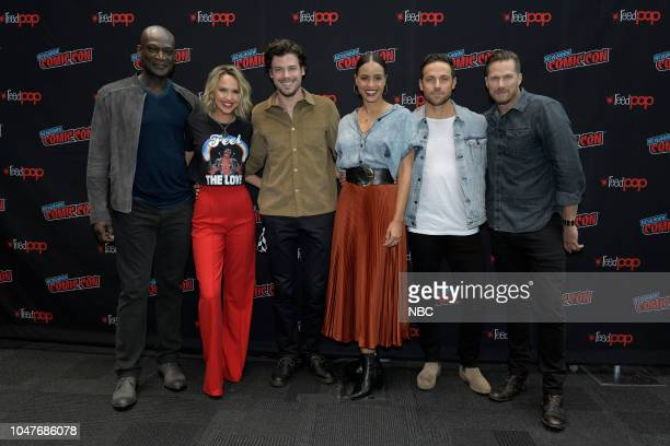 MIDNIGHT TEXAS New York Comic Con 2018 Pictured Peter Mensah Arielle Kebbel François Arnaud Parisa FitzHenley Dylan Bruce Jason Lewis