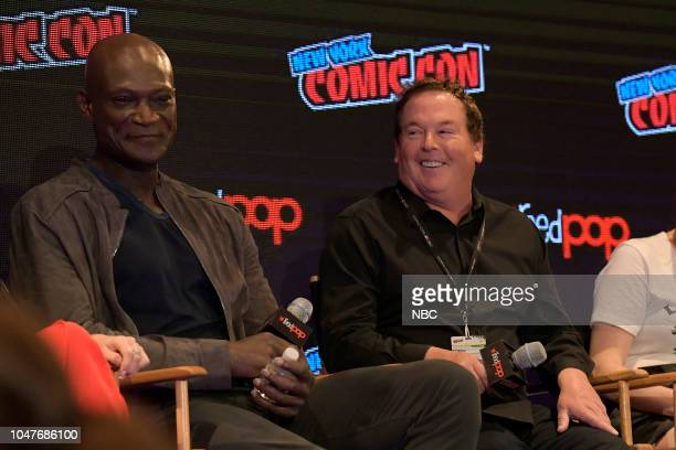 MIDNIGHT TEXAS New York Comic Con 2018 Pictured Peter Mensah Executive Producer David Janollari