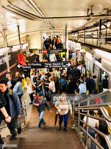 New York commuters travel through the Grand Central subway station on May 29 2019