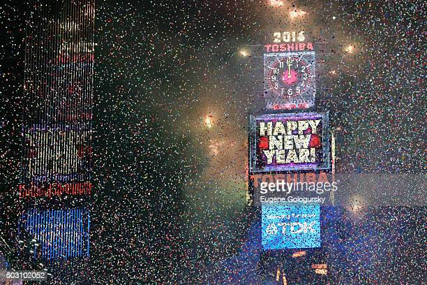 New York Countdown at Times Square on December 31 2015 in New York City