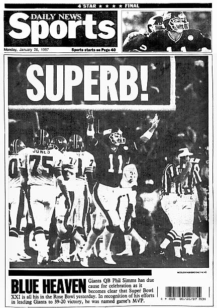 New York Daily News back page dated January 26, 1987 , Headl