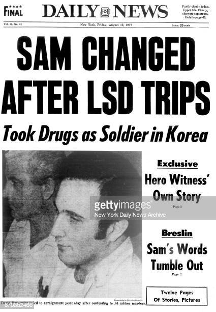 New York Daily News front page Friday August 12 SAM CHANGED AFTER LSD TRIPS