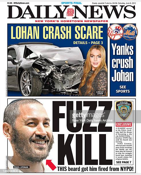 New York Daily News front page June 9 Headline FUZZ KILL This beard got him fired from NYPD A Hasicic recruit at Police Academy had his dream of...