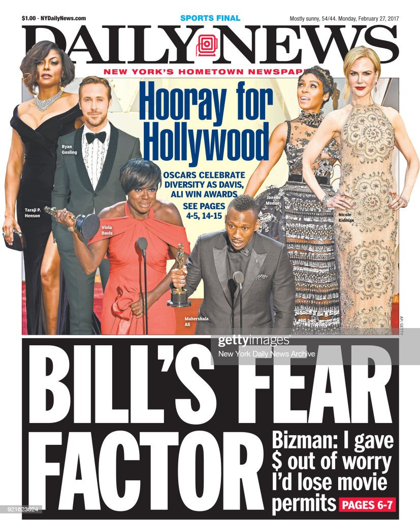 New York Daily News front page Monday February 7, 2017, BILL
