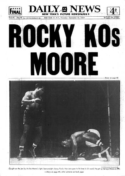 New York Daily News front page September 22, 1955, ROCKY KOs