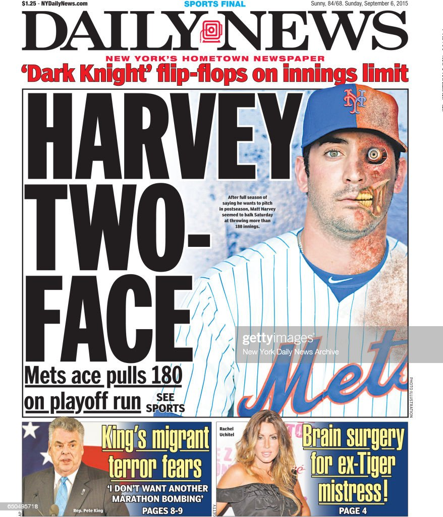 new york daily news front page sunday september 6 harvey ニュース