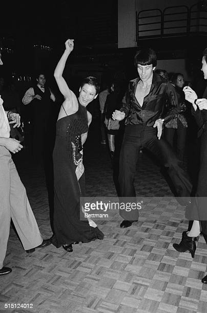 Dancin' the night at Studio 54 early November 19 are Fred Bordenianu of the International Ballet of Caracas and prima ballerina Natalia Makarova who...