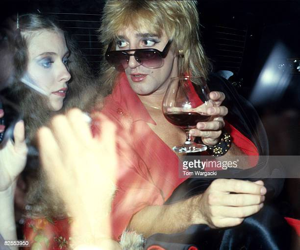 New York December 5th 1977 Rod Stewart and singer Bebe Buell at the Pierre Hotel