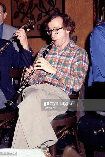 Definitely not in the role of the nervous nominee comedian Woody Allen played clarinet in jazz band at a Manhattan pub during broadcast of the...