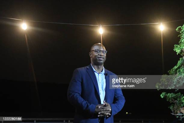 New York Democratic House candidate Jamaal Bowman greets supporters on June 23 2020 in Yonkers New York Jamaal Bowman is running to unseat...