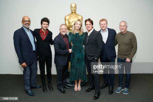 AMPAS New York director of programs and membership Patrick Harrison actor Ben Whishaw composer Marc Shaiman actor Emily Blunt producer and director...
