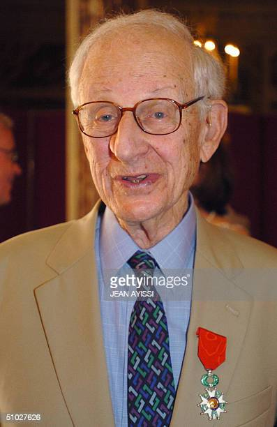 New York District Attorney Robert Morgenthau poses after receiving France's highest distinction the Legion of Honor from French Justice minister...
