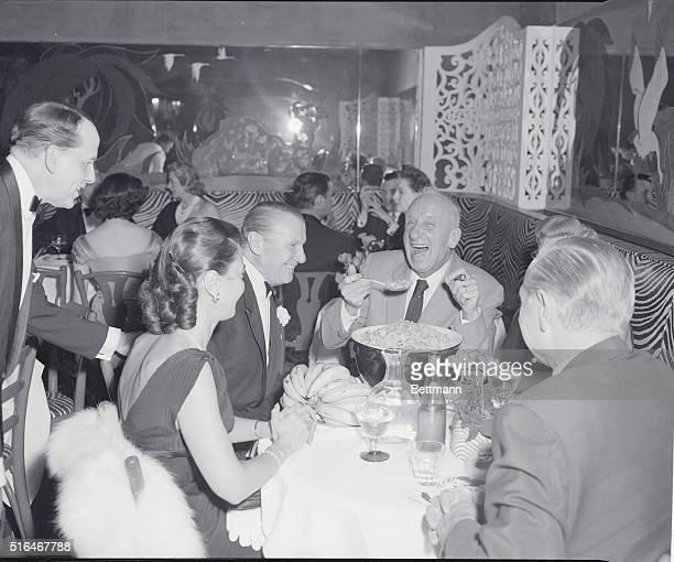 El Morocco Nightclub John Perona with Jimmy Durante and party