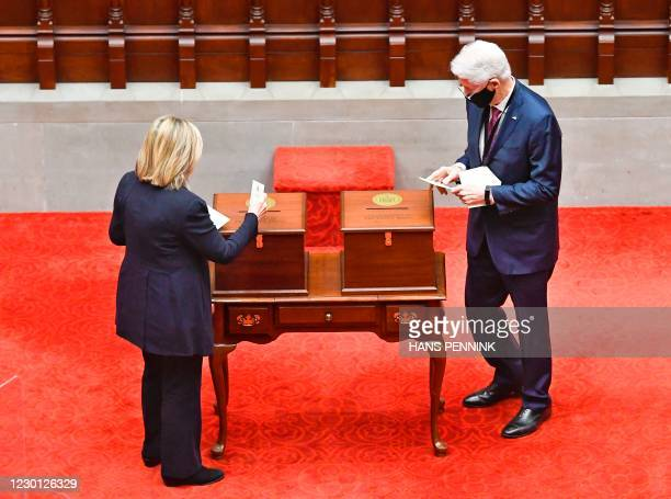 New York Electoral College members, Former Secretary of State Hillary Clinton , and Former President Bill Clinton vote for President and Vice...