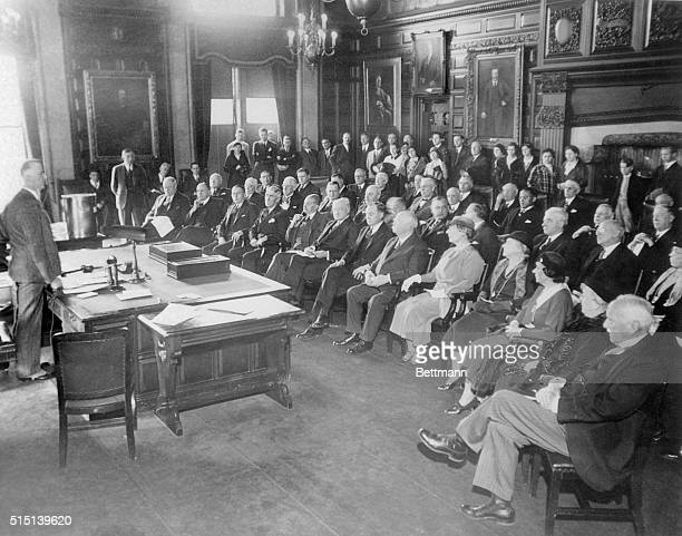 New York Electoral College Votes for Roosevelt A view during the meeting at Albany NY of the New York Electoral College at which the state's...
