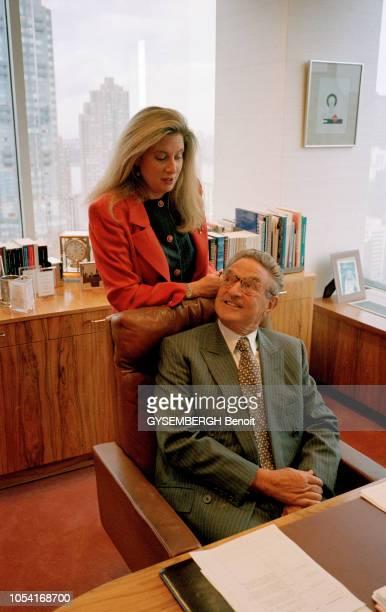 New York EtatsUnis octobre 1996 Rendezvous avec le financier américain George SOROS à l'occasion de la parution de son livre Le défi de l'argent Ici...