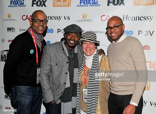 New York Events Director for the Academy of Motion Picture Arts and Sciences Patrick Harrison producer Will Packer Carol Ann Shine of Blackhouse and...