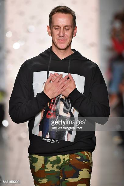 New York Fashion Week Designer Jeremy Scott takes a bow at the finale of his Spring Summer 2018 collection
