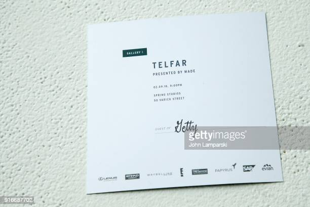 New York Fashion Week invitations on display during IMG NYFW The Shows at Spring Studios on February 10 2018 in New York City