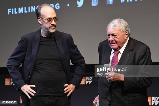 New York Film Festival Director Kent Jones and director Claude Lanzmann introduce Four Sisters The Hippocratic Oath during the 55th New York Film...