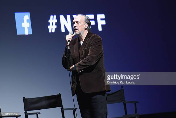 New York Film Festival director Kent Jones speaks onstage at 'Bright Lights' Intro and QA at Alice Tully Hall Lincoln Center on October 10 2016 in...