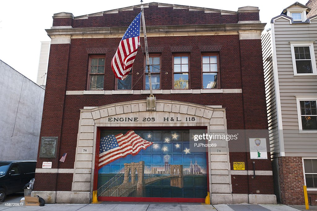 New York-Fire Station in Brooklyn District : Stock-Foto