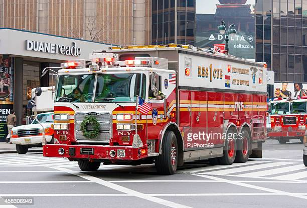 Camion de pompiers de New York, à Manhattan