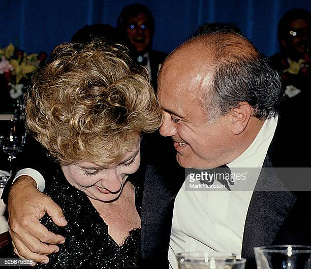 New York First Lady Matilda Cuomo shares a laugh with actor Danny DeVito at the 18th annual National Italian American Foundation dinner Washington DC...